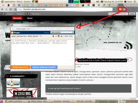 Posting di Blogspot dan WordPress Sekali Klik di Chrome Extension